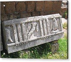 Stone In Tarquinia Acrylic Print