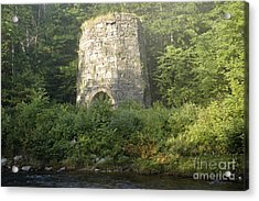 Stone Iron Furnace - Franconia New Hampshire Acrylic Print by Erin Paul Donovan