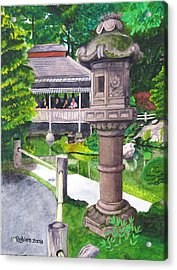 Stone Lantern Acrylic Print by Mike Robles