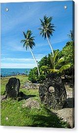 Stone Money On Yap Island, Micronesia Acrylic Print