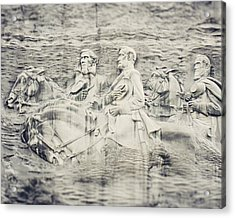 Stone Mountain Georgia Confederate Carving Acrylic Print by Lisa Russo