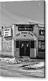 Stone Pony In Black And White Acrylic Print by Paul Ward