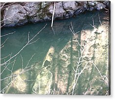 Stone Reflection In Water Acrylic Print