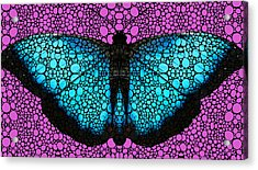 Stone Rock'd Butterfly 2 By Sharon Cummings Acrylic Print by Sharon Cummings