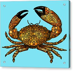 Stone Rock'd Stone Crab By Sharon Cummings Acrylic Print by Sharon Cummings