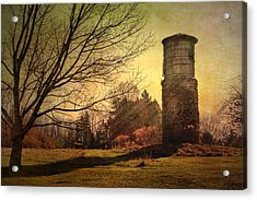 Stone Silo And Water Tower  Acrylic Print by Betty  Pauwels