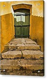Stone Stair Entranceway  Acrylic Print by David Letts