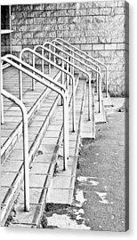 Stone Steps And Railings Acrylic Print by Tom Gowanlock