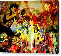 Stone Temple Pilots Original  Acrylic Print by Ryan Rock Artist