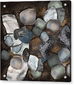 Stone Thoughts Acrylic Print by Christine Fournier