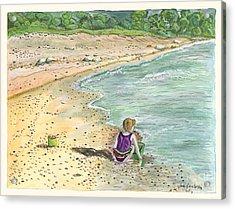 Stone Treasures Acrylic Print by Janis  Cornish