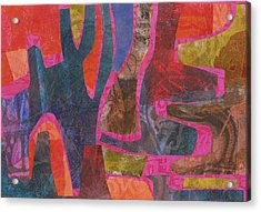 Stone Tree Sunrise Acrylic Print