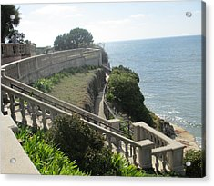Stone Wall Over The Sea Acrylic Print by Vivien Rhyan
