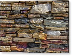 Stone Wall Acrylic Print by Paul Donohoe
