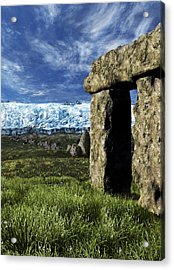 Stonehenge Glacier Theory Acrylic Print by Nicolle R. Fuller