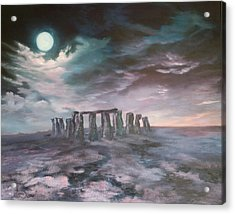 Stonehenge In Wiltshire Acrylic Print by Jean Walker