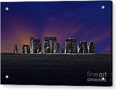 Acrylic Print featuring the photograph Stonehenge Looking Moody by Terri Waters