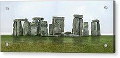 Stonehenge Panoramic - England Acrylic Print by Mike McGlothlen