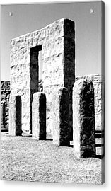 Acrylic Print featuring the photograph Stonehenge Replica by Chalet Roome-Rigdon