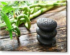 Stones And Bamboo Acrylic Print