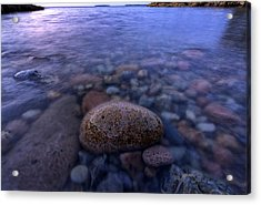 Stones And Water In Acadia National Park Acrylic Print by Rick Berk