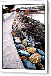 Stones At The Bay... Acrylic Print by Lisa Alex