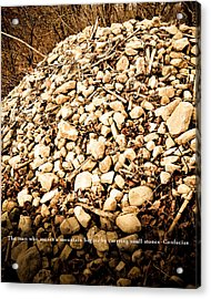 Stones Acrylic Print by BandC  Photography