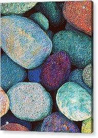 Stones In Pastel Acrylic Print by Antonia Citrino