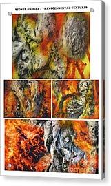Stones On Fire Transcendental Textures Acrylic Print by Dov Lederberg