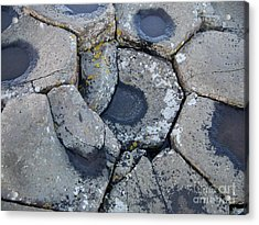 Stones On Giant's Causeway Acrylic Print by Marilyn Zalatan