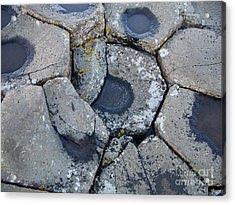 Stones On Giant's Causeway Acrylic Print
