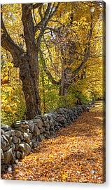 Stonewall In Autumn Acrylic Print by Donna Doherty