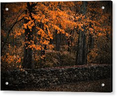 Stonewall In Autumn Acrylic Print by GJ Blackman