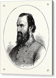 Stonewall Jackson, American Civil War, United States Acrylic Print by American School