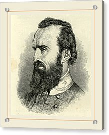 Stonewall Jackson, Usa 19th Century Acrylic Print by Liszt collection