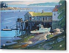 Stonington Maine Acrylic Print by Len Stomski