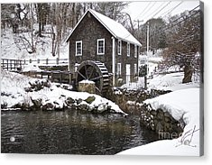 Stony Brook Grist Mill Of Brewster Acrylic Print