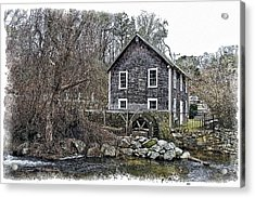 Stony Brook Gristmill Acrylic Print by Constantine Gregory