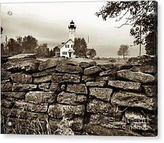 Stony Point Lighthouse Acrylic Print by Tony Cooper