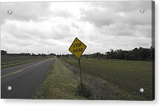 Stop Ahead Acrylic Print by Francesco Plazza