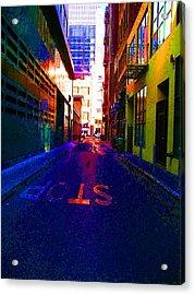 Stop Alley Acrylic Print