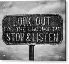 Stop And Listen Acrylic Print by Steve Stanger