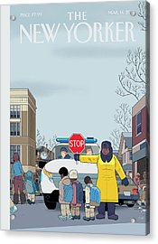 Stop Acrylic Print by Chris Ware