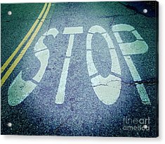 Stop Acrylic Print by Colin and Linda McKie