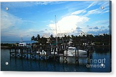 Stop In Acrylic Print by Alison Tomich