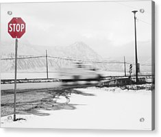 Stop - In The Name Of Love Acrylic Print by Theresa Tahara