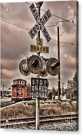 Stop On Red Signal Acrylic Print