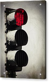 Stop On The Red Acrylic Print by Karol Livote