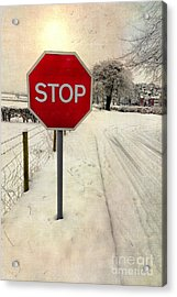 Stop Sign Acrylic Print by Adrian Evans