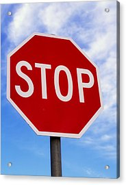 Stop Sign Ireland Acrylic Print by The Irish Image Collection